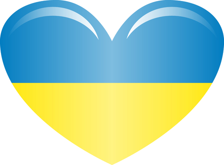 Ukraine flag, official colors and proportion correctly. National Ukraine flag. Flat Zdjęcie Seryjne - 125339172