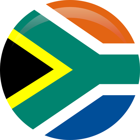 National flag of South Africa in official colors and proportions Icons. Stock Vector - 125268437
