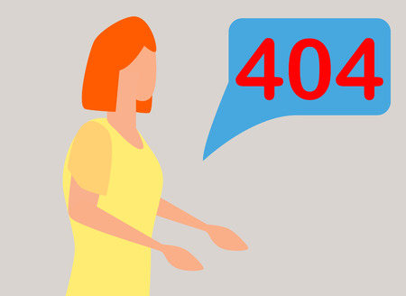 404 error page not found concept illustration of people using laptops having problems with website. Flat