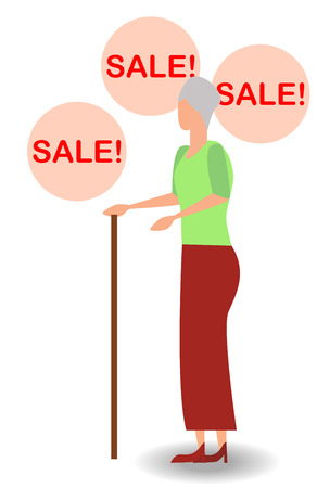 surprised woman face with open mouth and a sale speech bubble. Imagens - 124933367