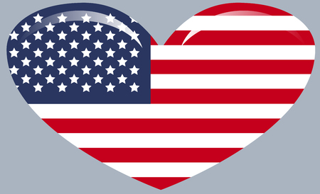 American flag with good colors. USA flag. United States. Independence day
