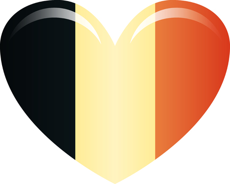 Belgium flag, official colors. National Belgium flag. Flat