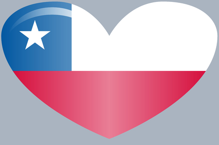 Chile Flag. Official colors and proportion correctly. National Chile flag.