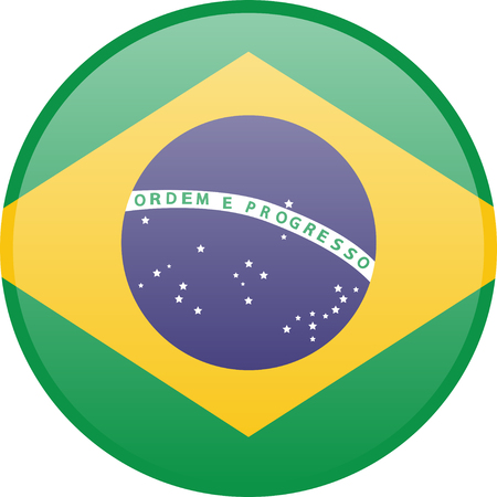 Simple flag of Brazil. Brazilian flag. Correct size, proportion, colors.