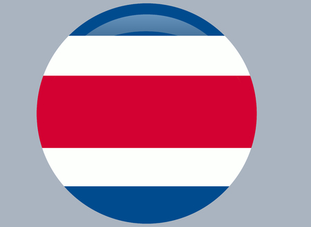 Costa Rican national official flag. Patriotic symbol, banner, element, background. Correct colors. Flag of Costa Rica waving on white background Illusztráció