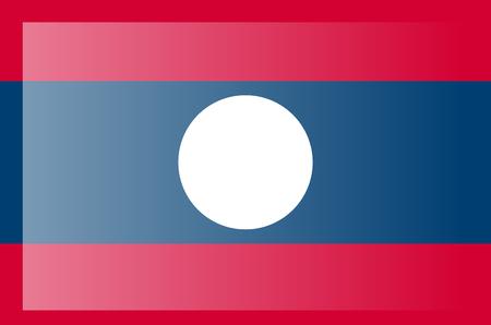 Flag of Laos. Accurate dimensions, element proportions and colors.