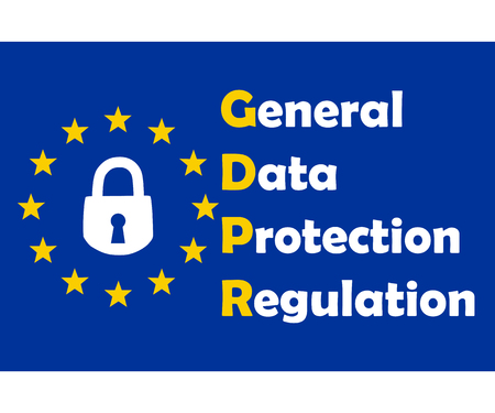 Gdpr concept, data protection, lock locked password Ilustrace