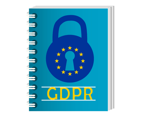 Gdpr concept, data protection, lock locked password