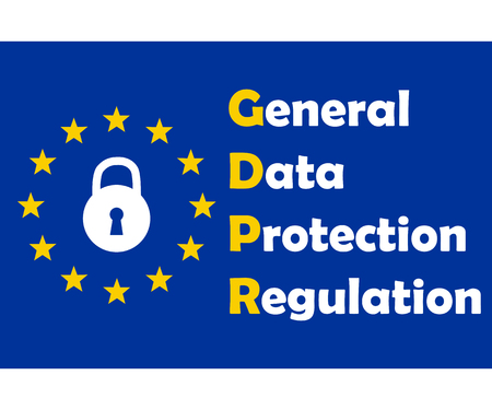 Gdpr concept, data protection, lock locked password 向量圖像