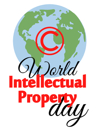 World Intellectual Property Day. concept of protection of copyright, intellectual property in the form of an icon of copyright on the castle