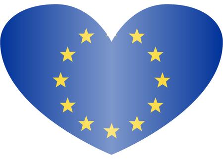 Simple flag of European Union. Illusztráció