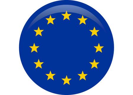 Simple flag of European Union. Vektorové ilustrace