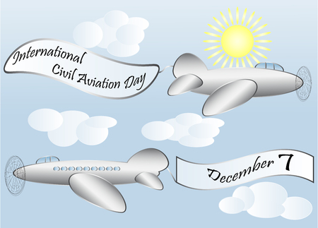 International Civil aviation day, airliner. December, seven