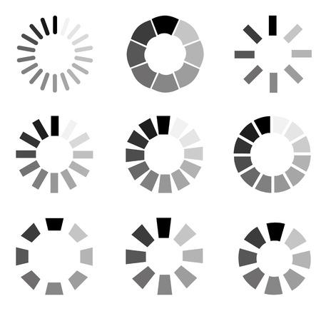Circular loading sign, isolated on white background, illustration.