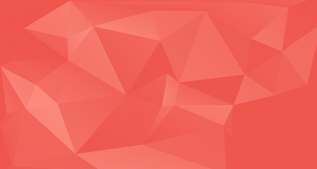 Coral color premium background. Low poly gradient shapes. Rich background, premium triangle polygons coral red design.