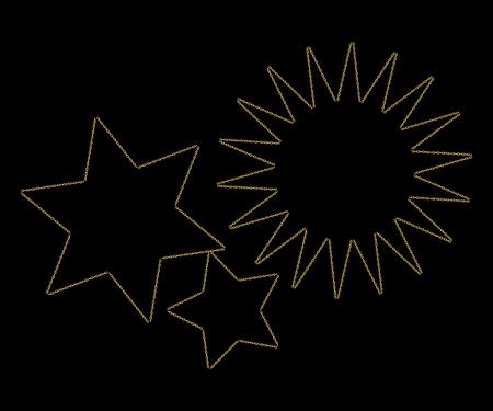 Golden Chain Collection - Line, Link and Broken Symbol of Security and Destruction. Frame. Vector illustration
