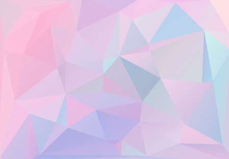 Abstract triangular background, with pastel colors inspired from the 80s 90s aesthetics. Holographic low poly design.