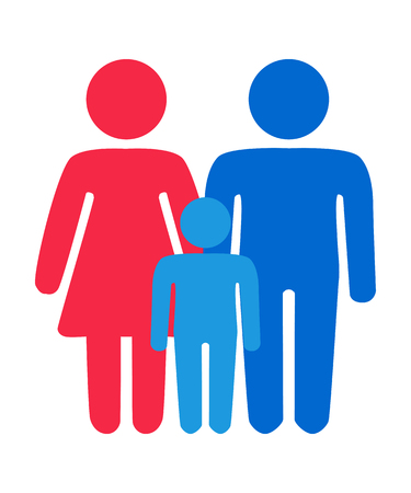 Gay, lesbian couples and family with children icon