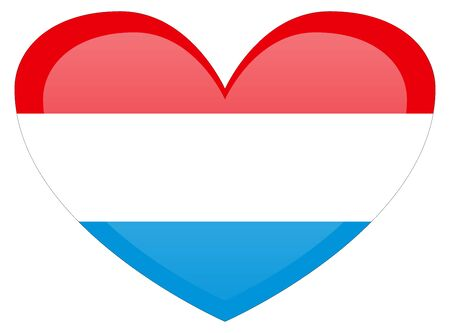 Luxembourg flag. Accurate dimensions, element proportions and colors.
