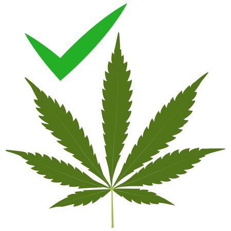 Marijuana cannabis leaf weed icon, medicine, drug. legally Stockfoto - 125605521