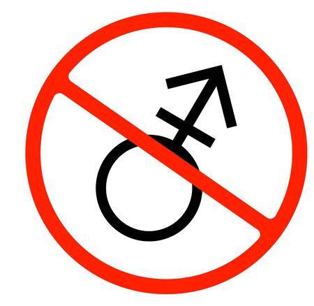 gender symbol. linear symbol. simple transgender icon. not allowed, black object in warning sign Çizim