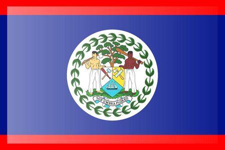 Drapeau du Belize. Dimensions précises, proportions des éléments et couleurs. Vecteurs