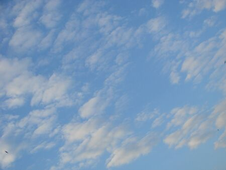 World environment day concept: Abstract beautiful blue sky and white clouds wallpaper background