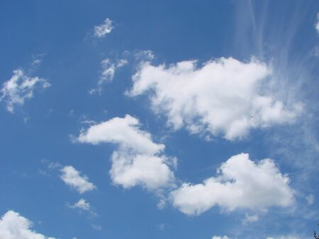 Sunshine clouds sky during morning background. Blue,white pastel heaven,soft focus lens flare sunlight