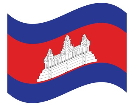 Flag of Cambodia. Accurate dimensions, element proportions and colors. Çizim
