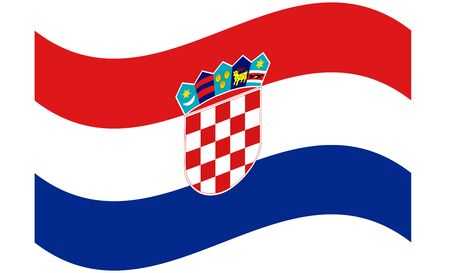 Flag of Croatia. Accurate dimensions, element proportions and colors. 矢量图像