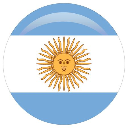 original and simple Argentina flag isolated in official colors and Proportion Correctly.