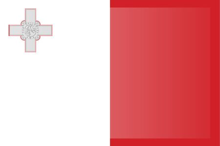 Malta flag vector. original and simple Malta flag isolated in official colors and Proportion Correctly