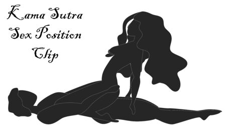 Kama Sutra, a man and a woman have sex. The art of love. Sexual position Clip Illusztráció