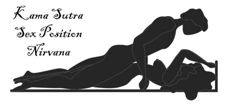 Kama Sutra, a man and a woman have sex. The art of love. Sexual position Nirvana Illusztráció