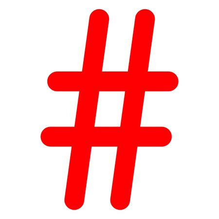 Simple element illustration. Hashtag symbol design from Social Media Marketing collection.