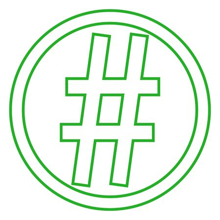 Simple element illustration. Hashtag symbol design from Social Media Marketing collection. web and mobile. Illustration