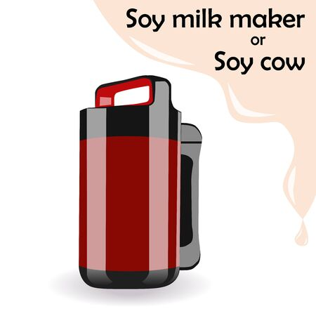 Soy milk maker. Grain blending machine. Healthy organic drink. Ilustrace