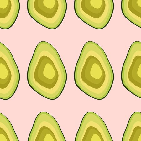 Avocado seamless pattern. print, fabric and organic, vegan, raw products packaging. eco and healthy food 版權商用圖片 - 129171912