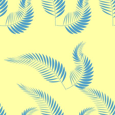 Tropical palm leaves, jungle leaves seamless floral pattern background