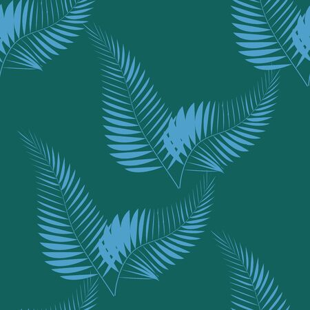Tropical seamless pattern with palm leaves. Design Archivio Fotografico - 129172089