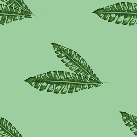 Seamless tropical pattern with banana leaves. Archivio Fotografico - 129172105