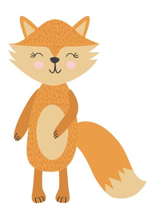 Baby print with little fox, Scandinavian style. Hand drawn graphic, typography poster, card, label, flyer, page, banner, baby wear, nursery.