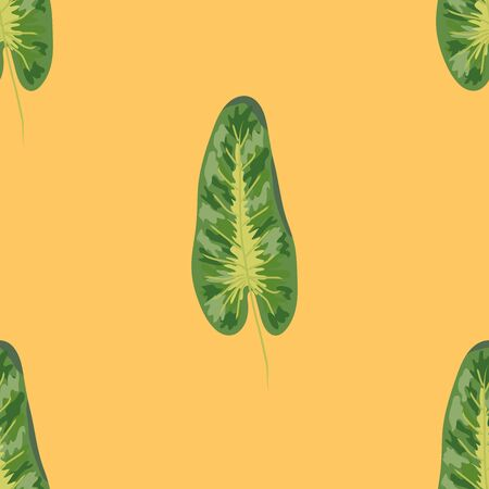 Tropical plants seamless pattern, tropical foliage, pastel vintage theme