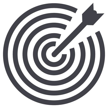 Business concept illustration, Target with an arrow, hit the target, goal achievement