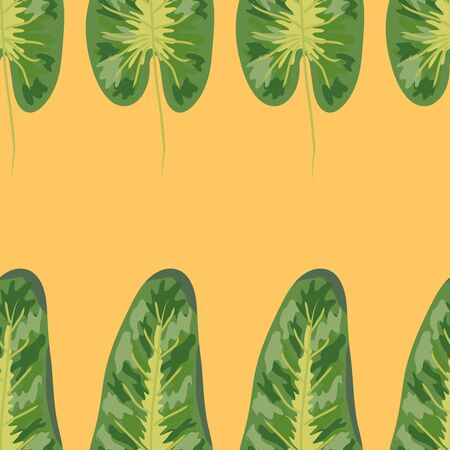 Tropical plants seamless pattern, tropical foliage, pastel vintage theme Foto de archivo - 129050060