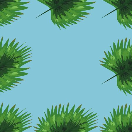 Nature seamless pattern. Hand drawn abstract tropical summer background: palm trees