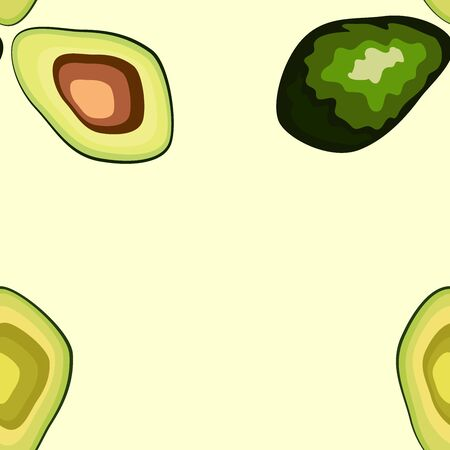 Avocado seamless pattern. print, fabric and organic, vegan, raw products packaging. eco and healthy food