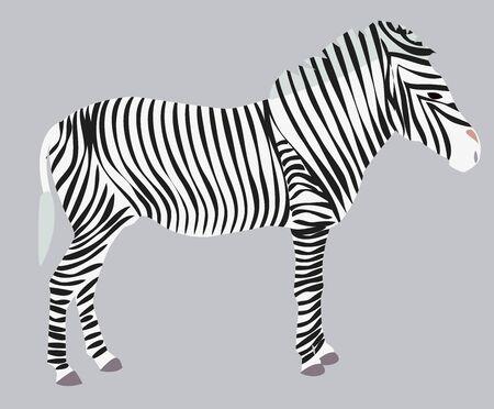 Sketch wild animal zebra print, silhouette. Wild African animals Иллюстрация