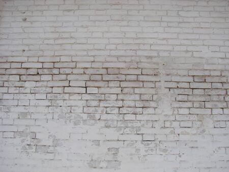 White brick wall, perfect as a background, square photograph