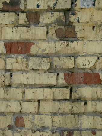Yellow gold brick wall abstract texture background 写真素材